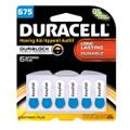 DURACELL® HEARING AID BATTERY Battery, Zinc Air, Size 675, 6/pk, 6 pk/cs (UPC# 66126) (SPEICAL OFFER!! SEE BELOW!!)$89.82/CASE