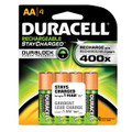 DURACELL® RECHARGEABLE BATTERY Pre-Charged Battery, NIMH, Size AA, 4pk, 6/pk, 4 pk/cs (UPC# 66155) (SPEICAL OFFER!! SEE BELOW!!)$271.72/CASE