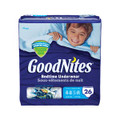 KIMBERLY-CLARK GOODNITES® UNDERPANTS Mega Pack Underpants, Boy, Small/ Medium, 26/pk, 3 pk/cs SPECIAL OFFER! SEE BELOW!! $K2/CASE