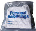 "NEW WORLD IMPORTS PERSONAL BELONGINGS BAG Personal Belongings Drawstring Bag, 17"" x 20"", Clear Bag with Blue Imprinting, 250/cs SPECIAL OFFER! SEE BELOW!! $K2/CASE"