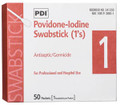 PDI PVP IODINE SWABSTICK PVP Iodine Prep Swab 1s, 1/pk, 50 pk/bx, 10 bx/cs SPECIAL OFFER! SEE BELOW!$118.3/SALE
