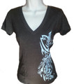 Sea Angler Gear Female Tribal Print Charcoal