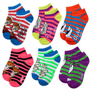 Frozen Knit Ankle Socks (Stripes, 4-6)