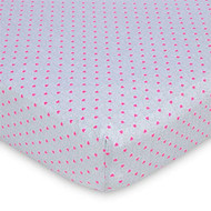 Gerber Baby Girl Crib Sheet - Hot Pink Hearts