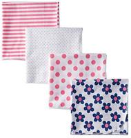 Gerber Baby Girl 4-Pack Flannel Receiving Blanket - Flowers