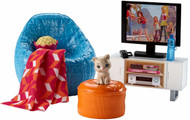 Barbie Movie Night & Accessories Playset