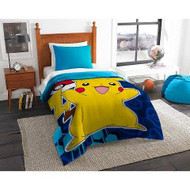 Pokémon Pikachu Yellow & Blue Comforter (Full)