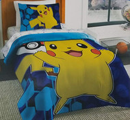 Pokemon Pikachu Yellow & Blue Comforter (Twin)