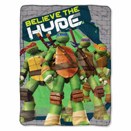 "Teenage Mutant Ninja Turtles Believe The Hype 46""x60"" Throw"