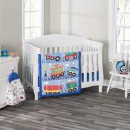 Everyday Kids 3 Piece Boys Crib Bedding Set - Choo Choo Train