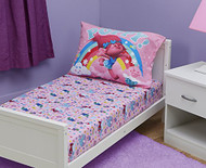 Trolls Toddler Fitted Sheet and Pillow Case, Pink