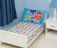 PJ Masks Toddler Fitted Sheet and Pillow Case Set