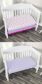 Everyday Kids 2 Pack Fitted Girls Crib Sheet - Princess/Lavender