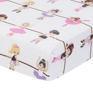 Everyday Kids Fitted Crib Sheet - Born to Dance Ballerina
