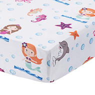 Everyday Kids Fitted Crib Sheet - Mermaid Adventures