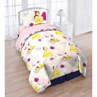 Beauty and the Beast Bold Comforter Twin 5 pcs Set Sheet