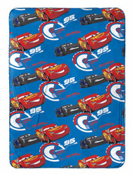 "Disney/Pixar Cars 3 Top Speed Blue Plush 40"" x 50"""