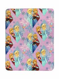 "Disney Frozen Lilac Diamond Plush 40"" x 50"" Travel Blanket"