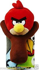 Angry Birds Pillow w/ Blanket