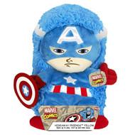"Disney Marvel 14"" Pet Captain America Plush Hideaway Character Pillow"
