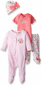 Gerber 4-Piece Sleep 'N Play Set - Flowers (Newborn)