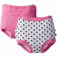 Gerber 2-Pack Terry Lined Training Pants - Polka Dots (2T/3T)