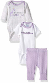 Gerber 3-Piece Onesies & Pants Set - Sweetie (6-9 Months)