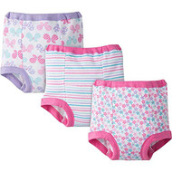 Gerber 3-Pack Toddler Girl Training Pants - Pink (2T)
