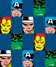 Marvel Heroes Cut Up Throw