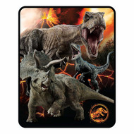 "Jurassic World Silk Touch Throw 50"" x 60"