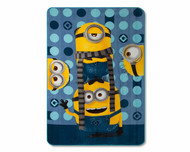 "Despicable Me 3 Minions Yellow & Blue Bed Blanket (62""X90"")"