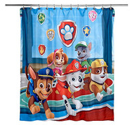 Paw Patrol Best Pup Pals Fabric Shower Curtain
