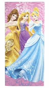 """Disney Princess Damask Beach/Bath/Pool Cotton Towel, 28"""" X 58"""