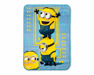 Despicable Me Minions Blue & Yellow Plush Throw
