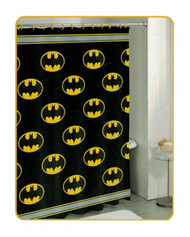 Batman Logo PEVA Shower Curtain