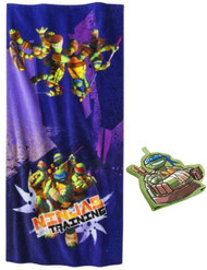 Ninja Turtles Bath Towel and Wash Mitt