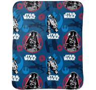 Star Wars Classic Vader & R2D2 Super Soft Travel Blanket