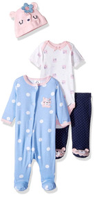 Gerber 4-Piece Sleep 'N Play Set - Bear (0-3 months)