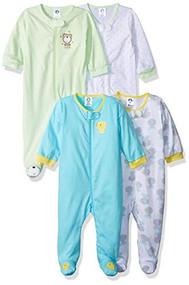 Gerber Baby 4-Pack Sleep 'N Play, Duck/Teddy, 0-3 Months