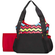 Baby Essentials Bright Chevron Print Tote