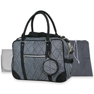 Wendy Bellissimo Quilted Duffle Diaper Bag (Black/Grey)