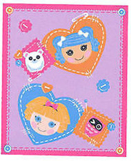 "Lalaloopsy Micro Raschel Plush Throw - 50"" By 60"""