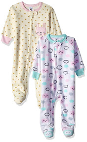 Just Born 2-Pack Cloud/Bunny Blanket Sleeper - (18 months)