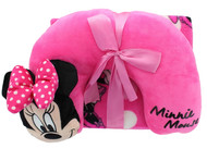 Minnie Mouse Neck Pillow & Travel Blanket Set