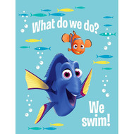 Finding Dory 'What Do We Do..We Swim' Plush Throw