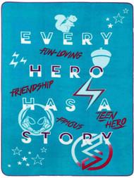 Marvel Rising Secret Warriors Plush Blanket
