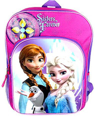 "Disney Frozen 15"" Backpack - 'Sisters Forever' Ana and Elsa"