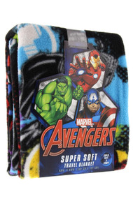 Marvel Avengers Symbols Super Soft Travel Blanket