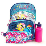 MY LITTLE PONY 5 PC BACKPACK SET