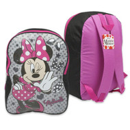 "Minnie Mouse 16"" Backpack - Black/Pink"